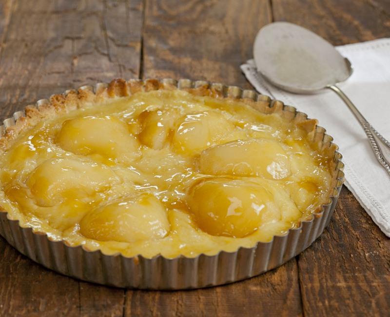 Almond & pear tart