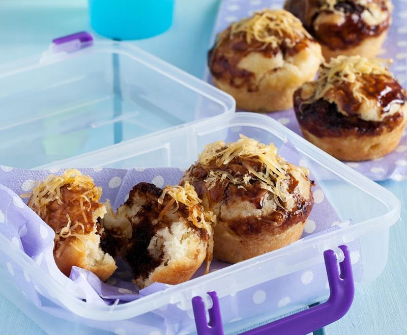 Marmite-layered cheese muffins